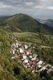 村庄在白色喀尔巴汗 免版税库存图片