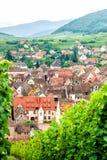 村庄在葡萄园里 图库摄影