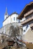 村庄在阿尔卑斯 免版税库存照片