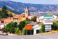 村庄在阿拉贡。frias de Albarracin 免版税图库摄影