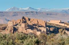 村庄在阿特拉斯山脉 免版税图库摄影
