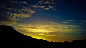 村庄太阳上升 库存图片
