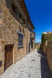 村庄奇维塔二巴尼奥雷焦在意大利 免版税图库摄影