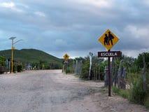 村庄学校在巴哈墨西哥 库存图片