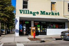 村庄市场,威明顿, NC 免版税库存照片