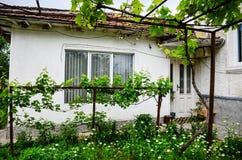 村庄房子在夏天 免版税库存照片