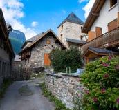 村庄拉格拉夫在法国阿尔卑斯 库存图片