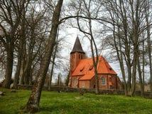 村庄教会在波兰 库存照片