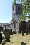 村庄教会在Meavy德文郡 免版税库存照片