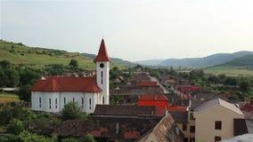 村庄教会视图 影视素材