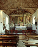 村庄教会,坎佩尔,布里坦尼,法国 免版税库存照片