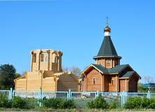 村庄教会 免版税库存照片