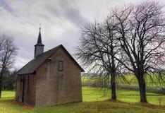 村庄教会 库存图片