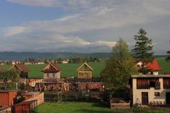 村庄斯洛伐克 免版税库存照片