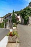 村庄时髦n的印象法国的Ardeche地区 免版税库存图片