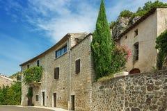 村庄时髦n的印象法国的Ardeche地区 库存图片
