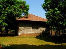 村庄村庄和庭院 库存图片
