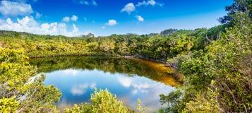 村庄池塘,北部凯科斯 免版税图库摄影