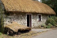 村庄爱尔兰人茅草屋顶 图库摄影