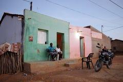 村庄生活在巴西在彼得罗利纳 免版税库存照片