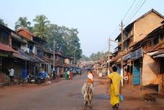 村庄生活在Gokarna,卡纳塔克邦,印度 库存图片