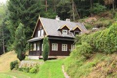 村庄用了木材建造 免版税图库摄影