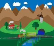 村庄的例证 免版税库存图片