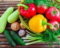 从村庄的健康食物 免版税库存照片