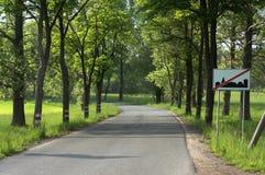 村庄的出口 免版税库存图片