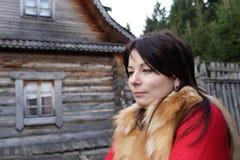 村庄的妇女 库存照片