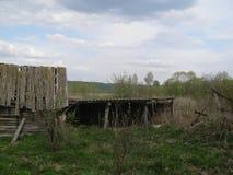 村庄的庭院 库存图片