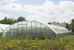 村庄的温室 免版税库存图片