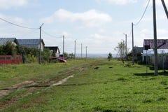 村庄的街道 免版税库存照片