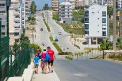 村庄的街道 免版税库存图片