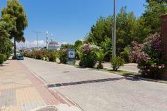 村庄的街道 库存图片
