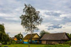 村庄的视图 免版税库存照片