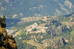 从村庄的高度的看法 免版税库存照片