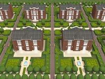 村庄的总计划 库存图片
