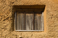 村庄窗口和老 免版税库存照片
