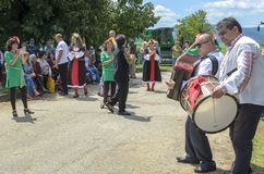村庄节日在Tserova Koria 库存照片