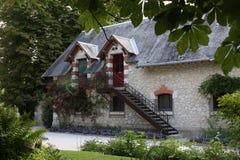 村庄议院在诺曼底 免版税库存图片