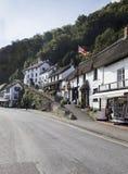 村庄议院看法在Lynmouth 免版税图库摄影