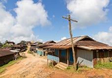 村庄路在缅甸 图库摄影