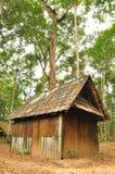 村庄雪结构树冬天木头 库存照片