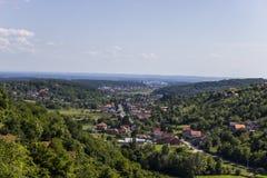 村庄风景 库存图片