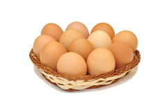 村庄鸡蛋 免版税库存图片
