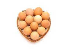 村庄鸡蛋 图库摄影