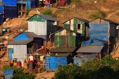 村庄,在缅甸(Burmar)的Kyaikto 免版税库存图片