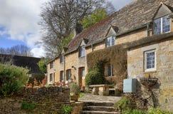 村庄, Bourton在这小山 图库摄影