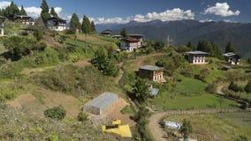 村庄 不丹王国 库存照片